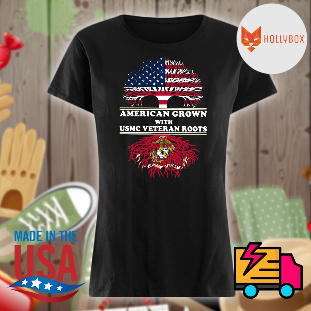 American grown with USMC veteran roots s V-neck