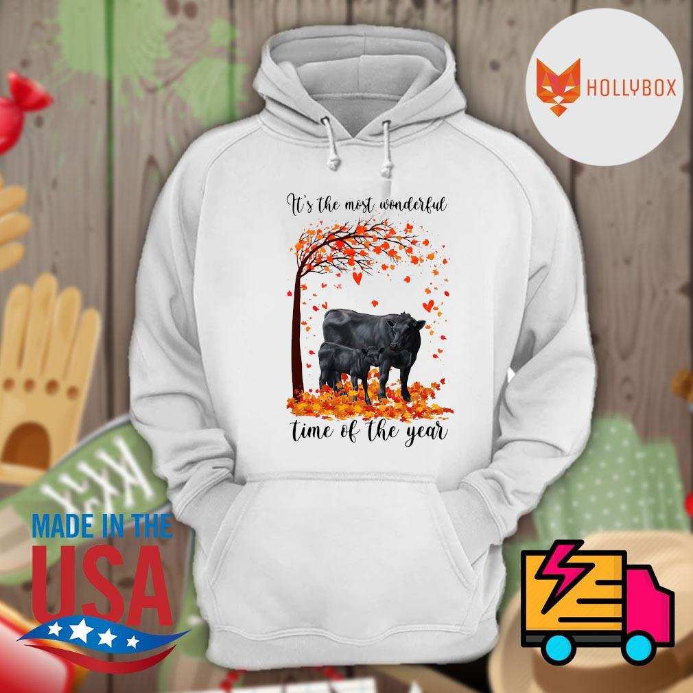 Angus cow it's the most wonderful time of the year Halloween tree s Hoodie