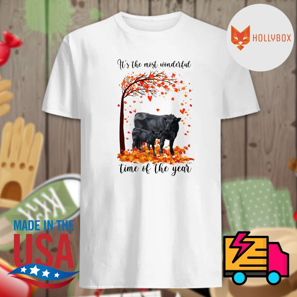 Angus cow it's the most wonderful time of the year Halloween tree shirt