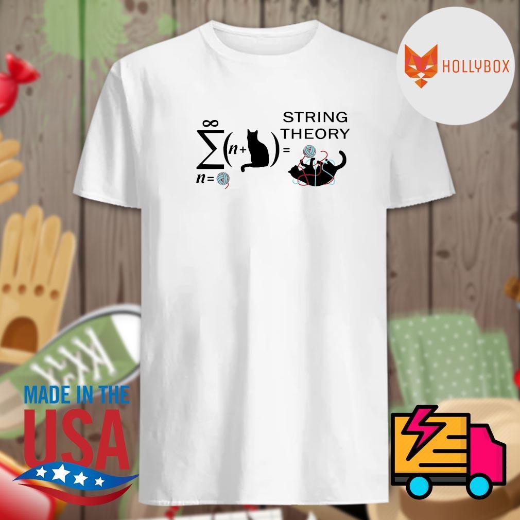 Black cat string theory shirt