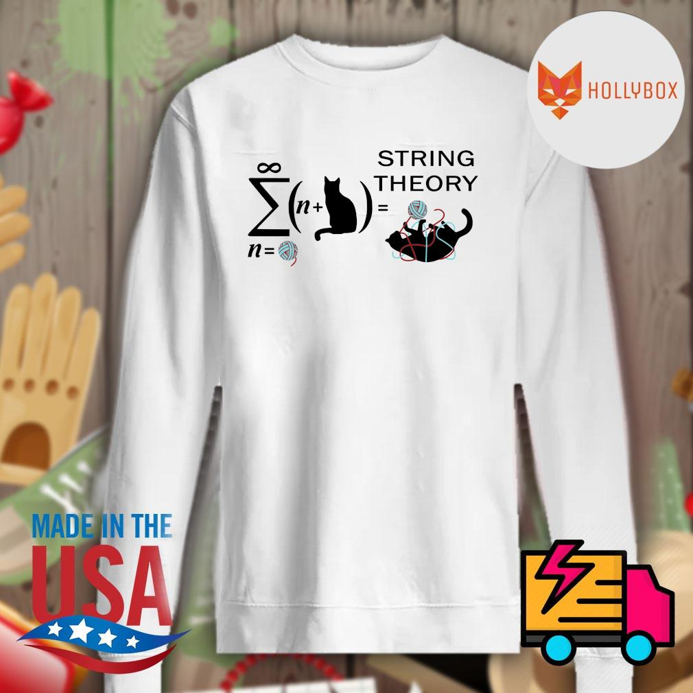Black cat string theory s Sweater