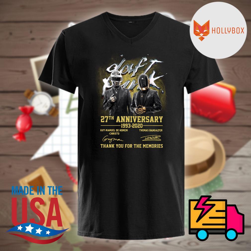 Daft Punk 27th anniversary 1993 2020 Guy Manuel de Homem Christo and Thomas Bangalter signatures thank you for the memories shirt