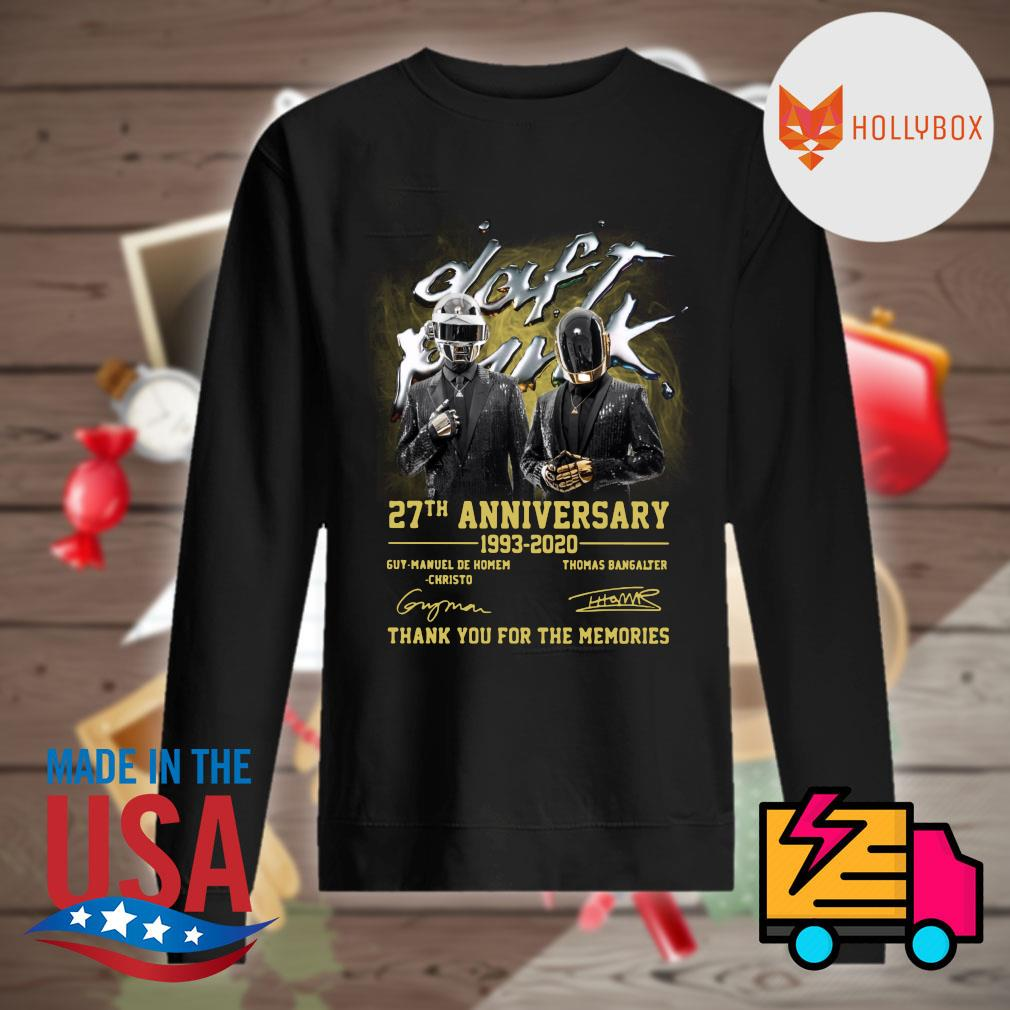 Daft Punk 27th anniversary 1993 2020 Guy Manuel de Homem Christo and Thomas Bangalter signatures thank you for the memories s Sweater