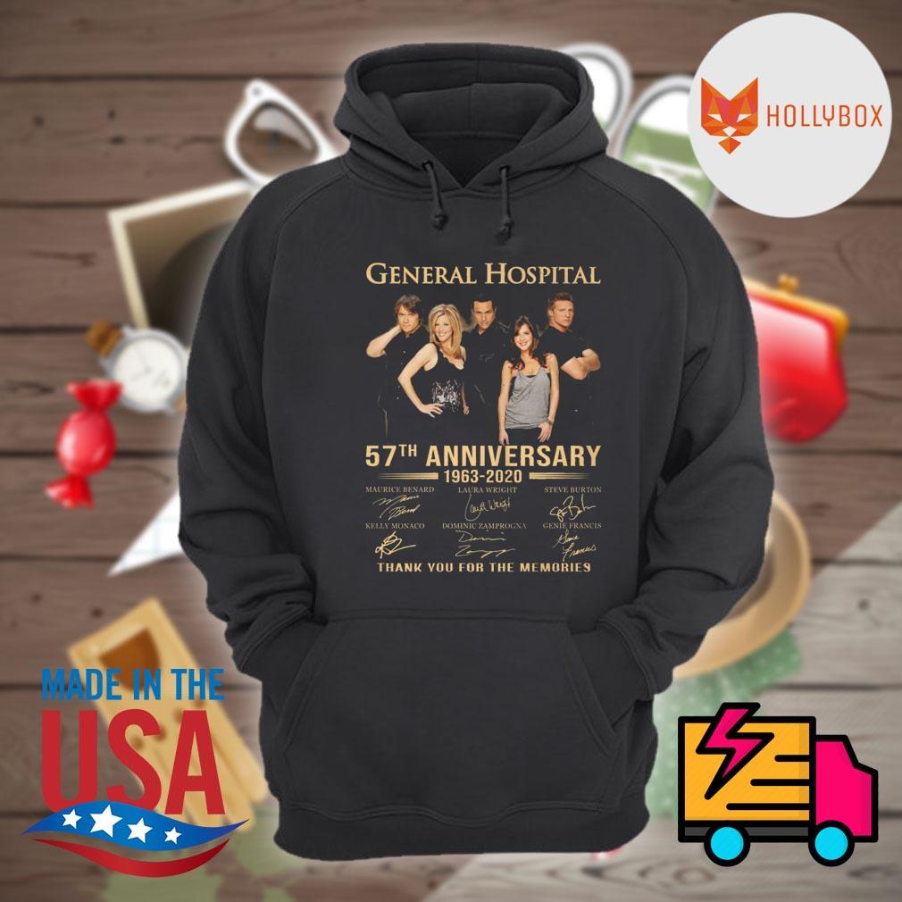 General Hospital 57th anniversary 1963 2020 signatures thank you for the memories s Hoodie