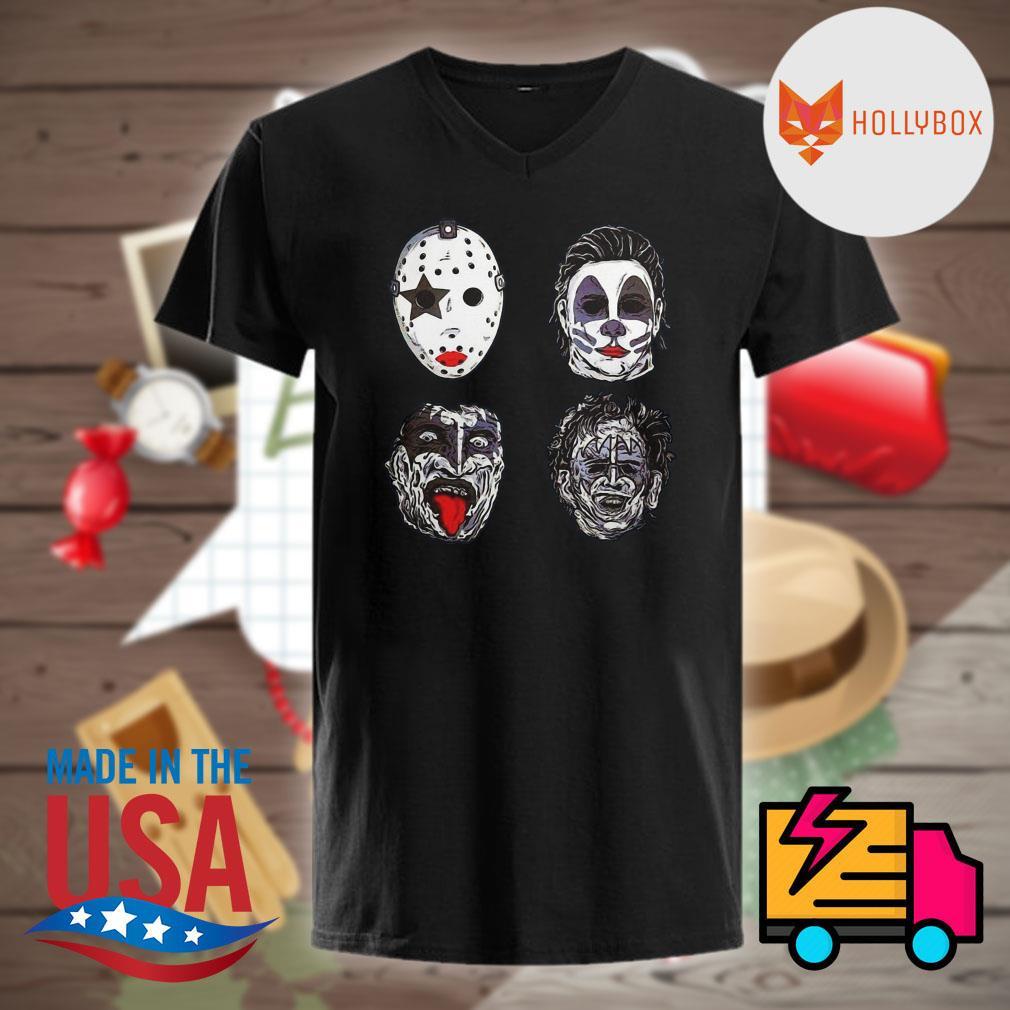 Horror movie characters facec Halloween shirt
