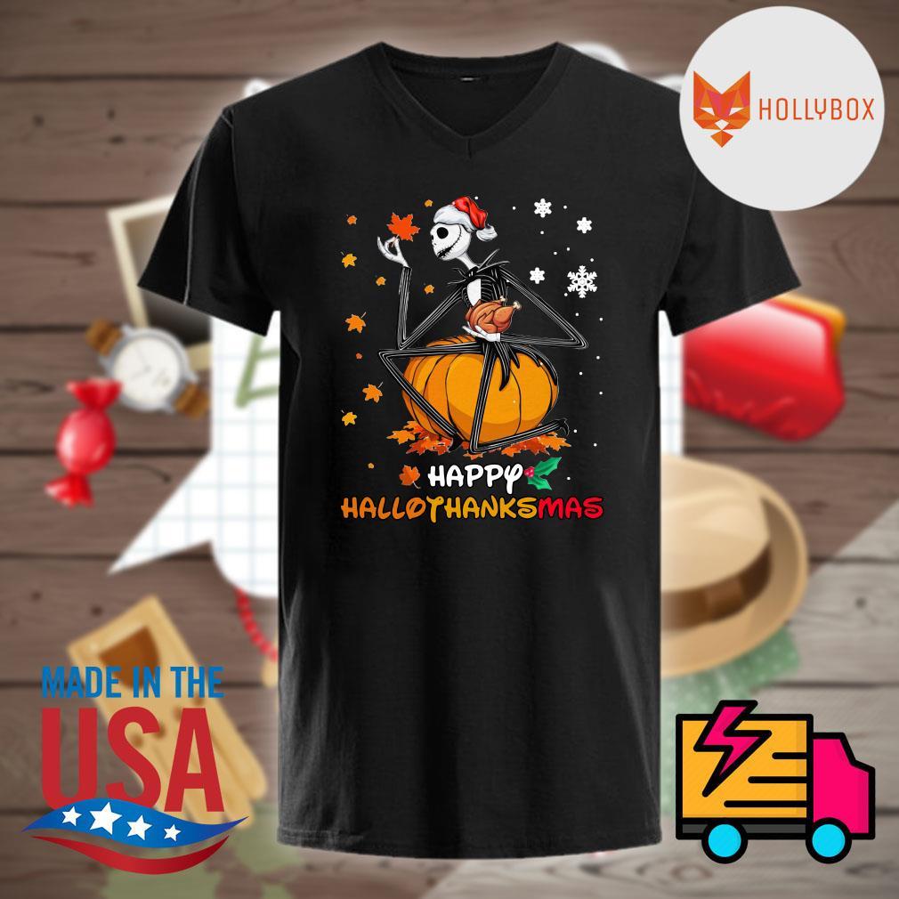Jack Skellington pumpkin Hallothanksmas shirt