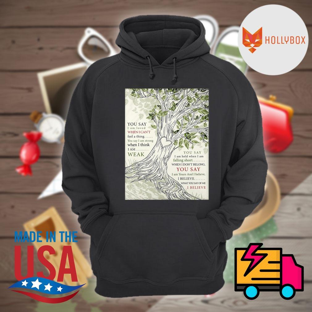 Lauren Daigle you say I am loved when I can't feel a thing you say I am strong when I think I am weak s Hoodie