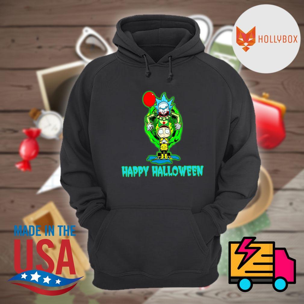 Pennywise IT Rick and Morty happy Halloween s Hoodie