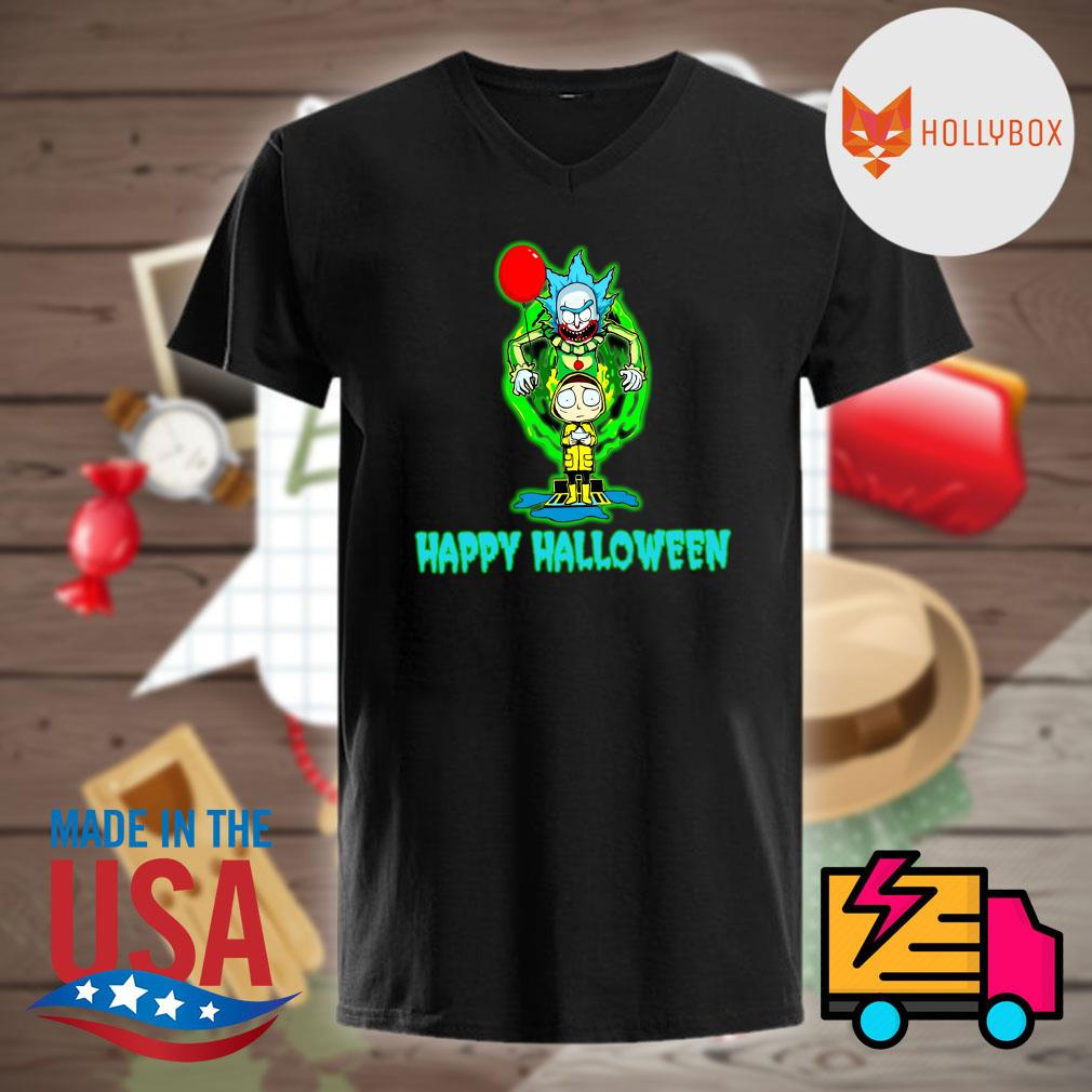 Pennywise IT Rick and Morty happy Halloween shirt