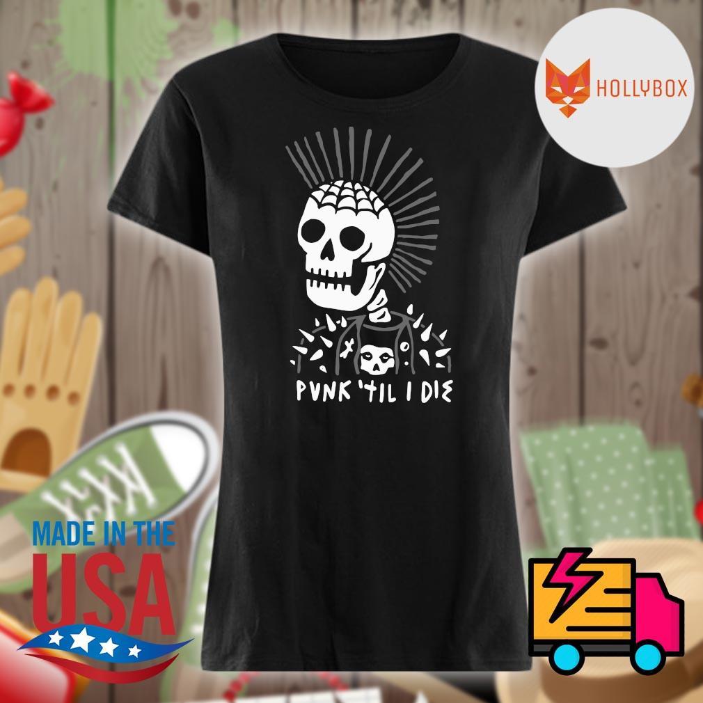 Skull head Punk til I die s V-neck