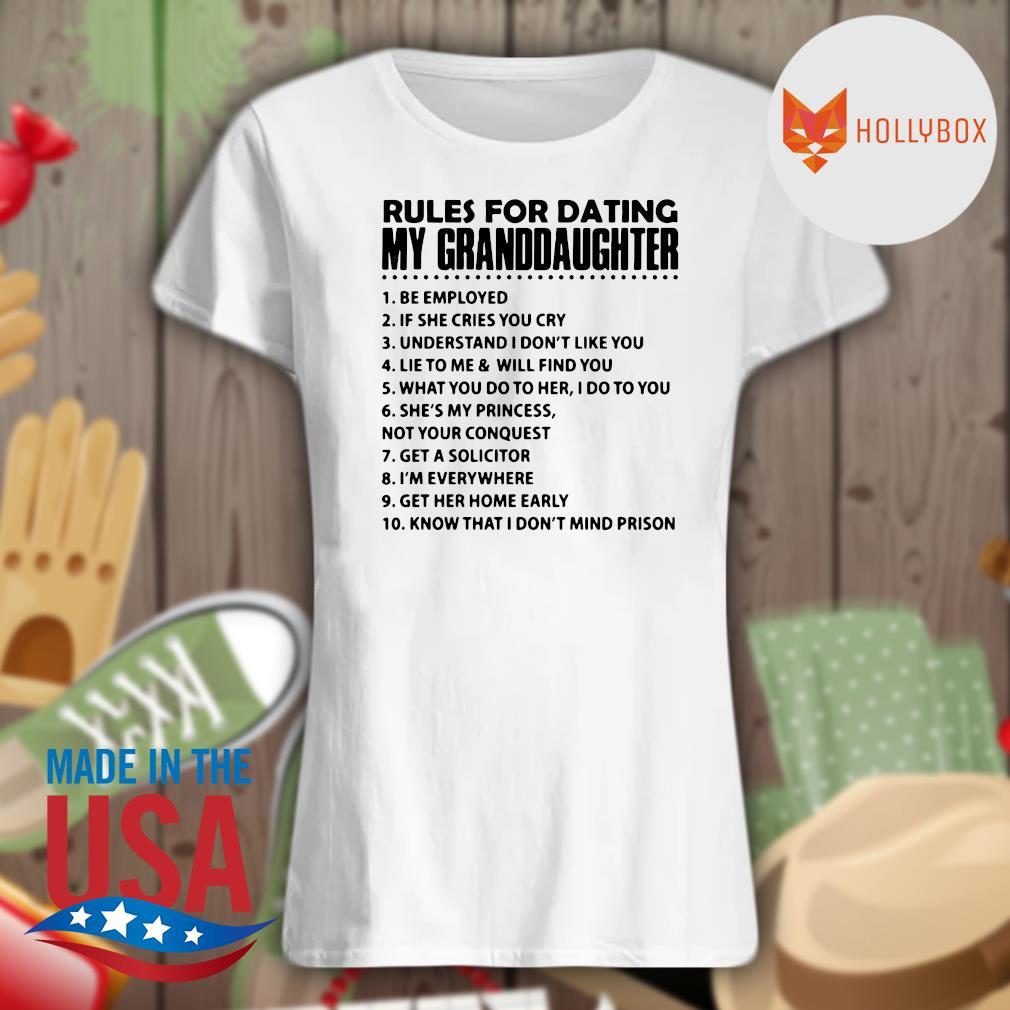 10 Rules for dating my granddaughter s V-neck