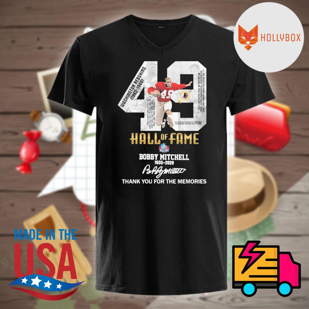 49 Hall of Fame Bobby Mitchell 1935 2020 signature thank you for the memories shirt