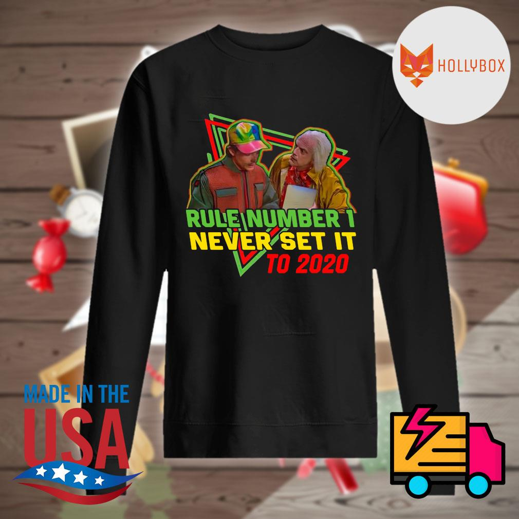 Rule number 1 never set it to 2020 back to the future s Sweater