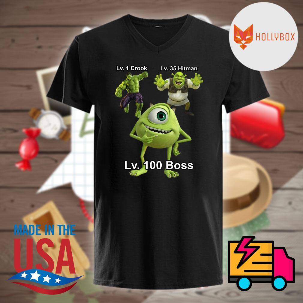 Specific lads Lv1 Crook lv35 Hitman Lv 100 Boss shirt