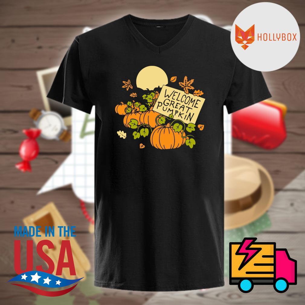 Welcome great pumpkin moon Halloween shirt