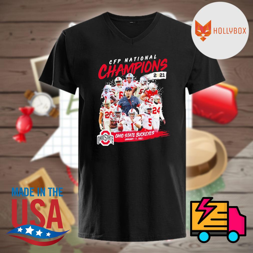 CFP National Champions 2021 Ohio State Buckeyes January 11 2021 Ohio State 24 52 Alabama shirt