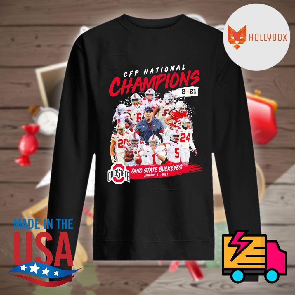 CFP National Champions 2021 Ohio State Buckeyes January 11 2021 Ohio State 24 52 Alabama s Sweater