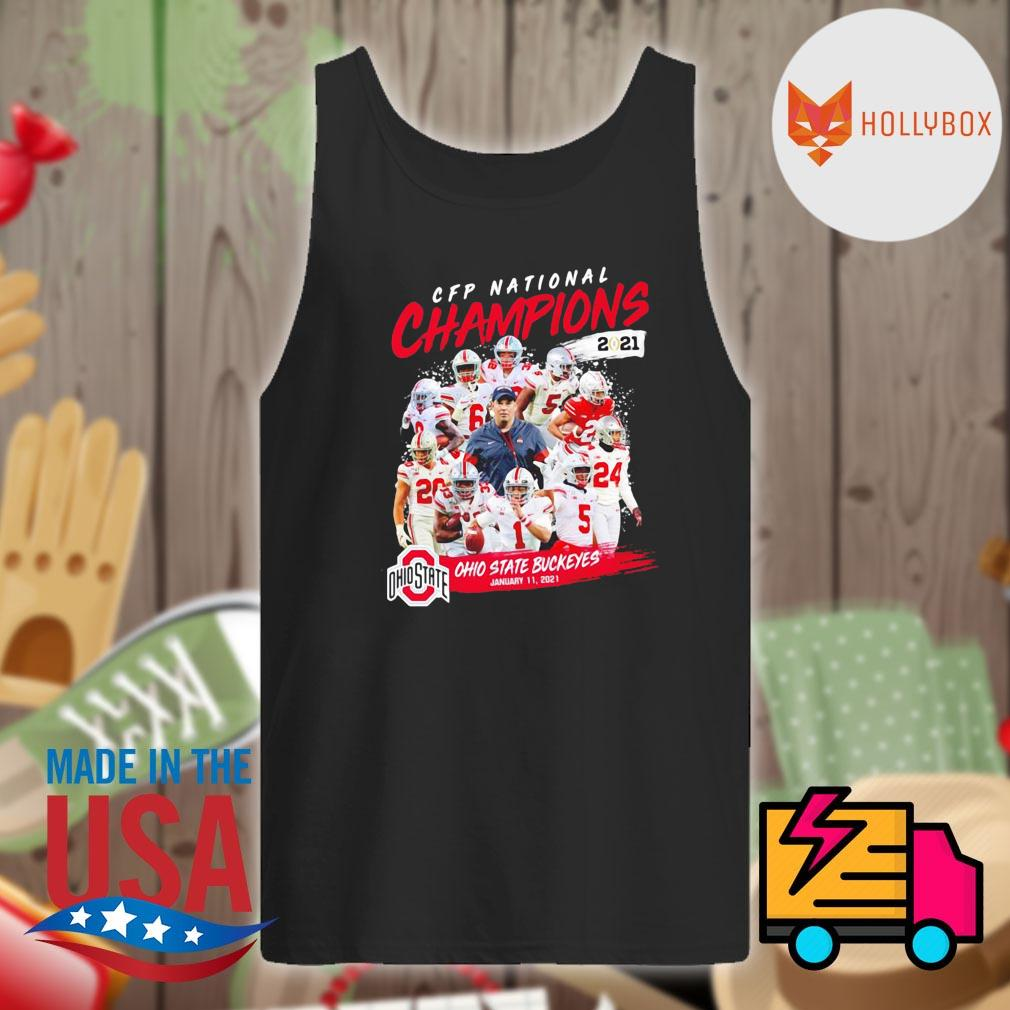 CFP National Champions 2021 Ohio State Buckeyes January 11 2021 Ohio State 24 52 Alabama s Tank-top