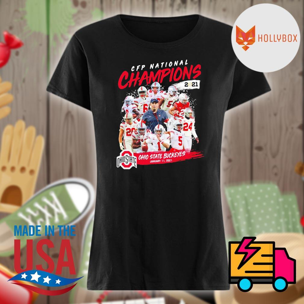 CFP National Champions 2021 Ohio State Buckeyes January 11 2021 Ohio State 24 52 Alabama s V-neck