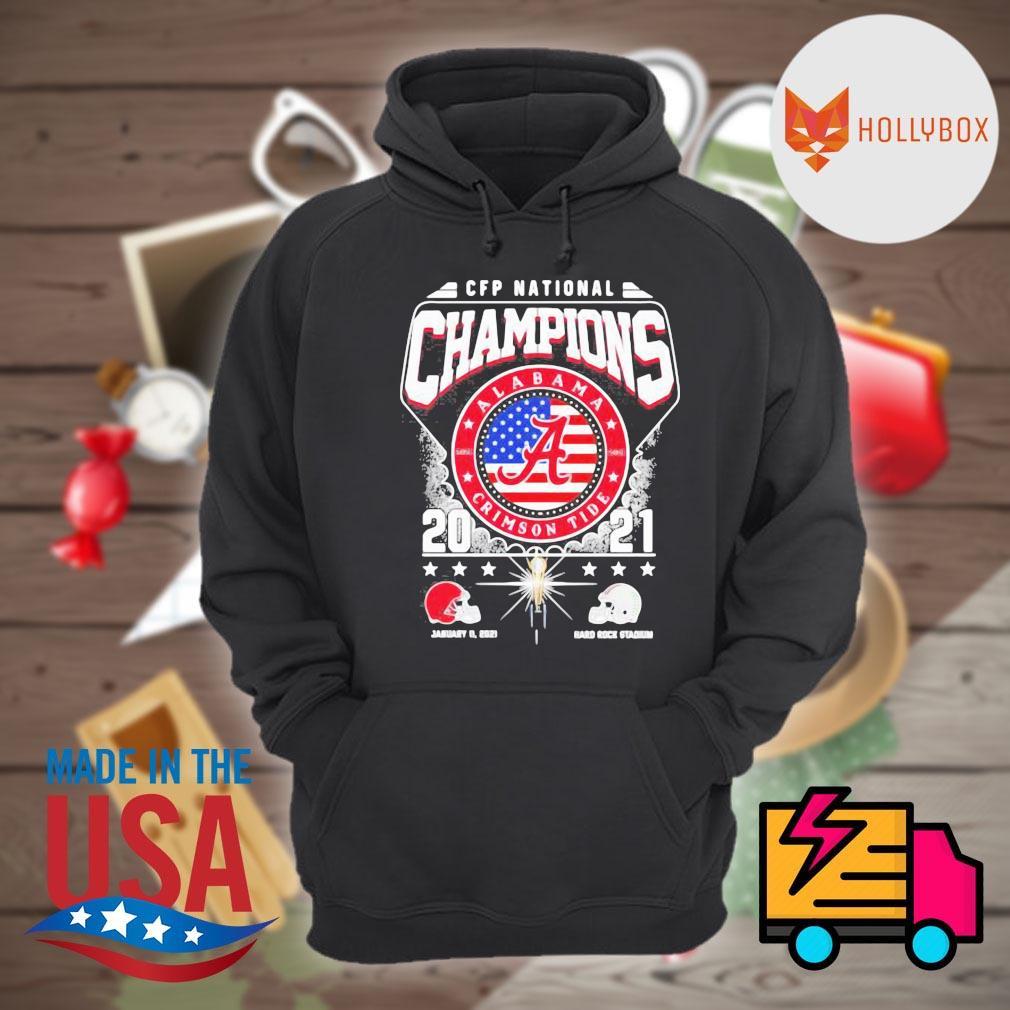 CFP National Champions Alabama Crimson Tide 2021 Alabama 52 24 Ohio State Hard Rock Stadium s Hoodie