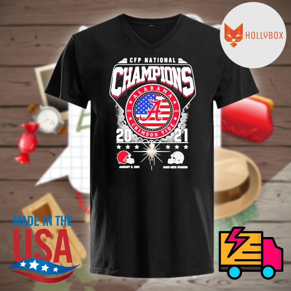 CFP National Champions Alabama Crimson Tide 2021 Alabama 52 24 Ohio State Hard Rock Stadium shirt