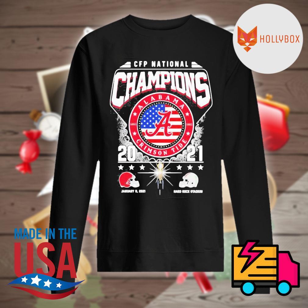 CFP National Champions Alabama Crimson Tide 2021 Alabama 52 24 Ohio State Hard Rock Stadium s Sweater