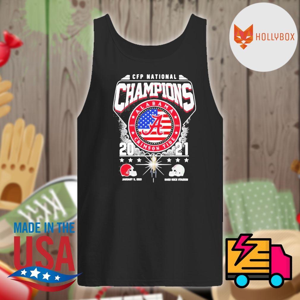 CFP National Champions Alabama Crimson Tide 2021 Alabama 52 24 Ohio State Hard Rock Stadium s Tank-top