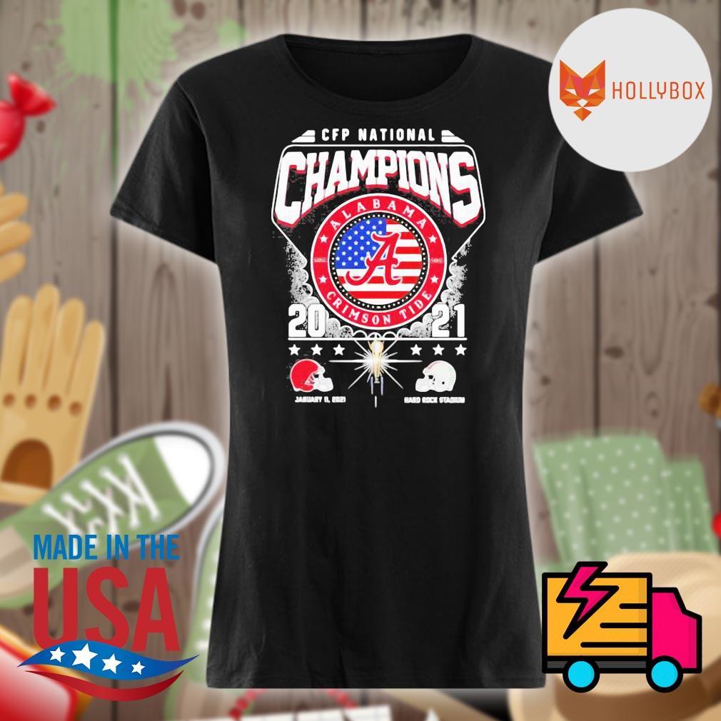 CFP National Champions Alabama Crimson Tide 2021 Alabama 52 24 Ohio State Hard Rock Stadium s V-neck