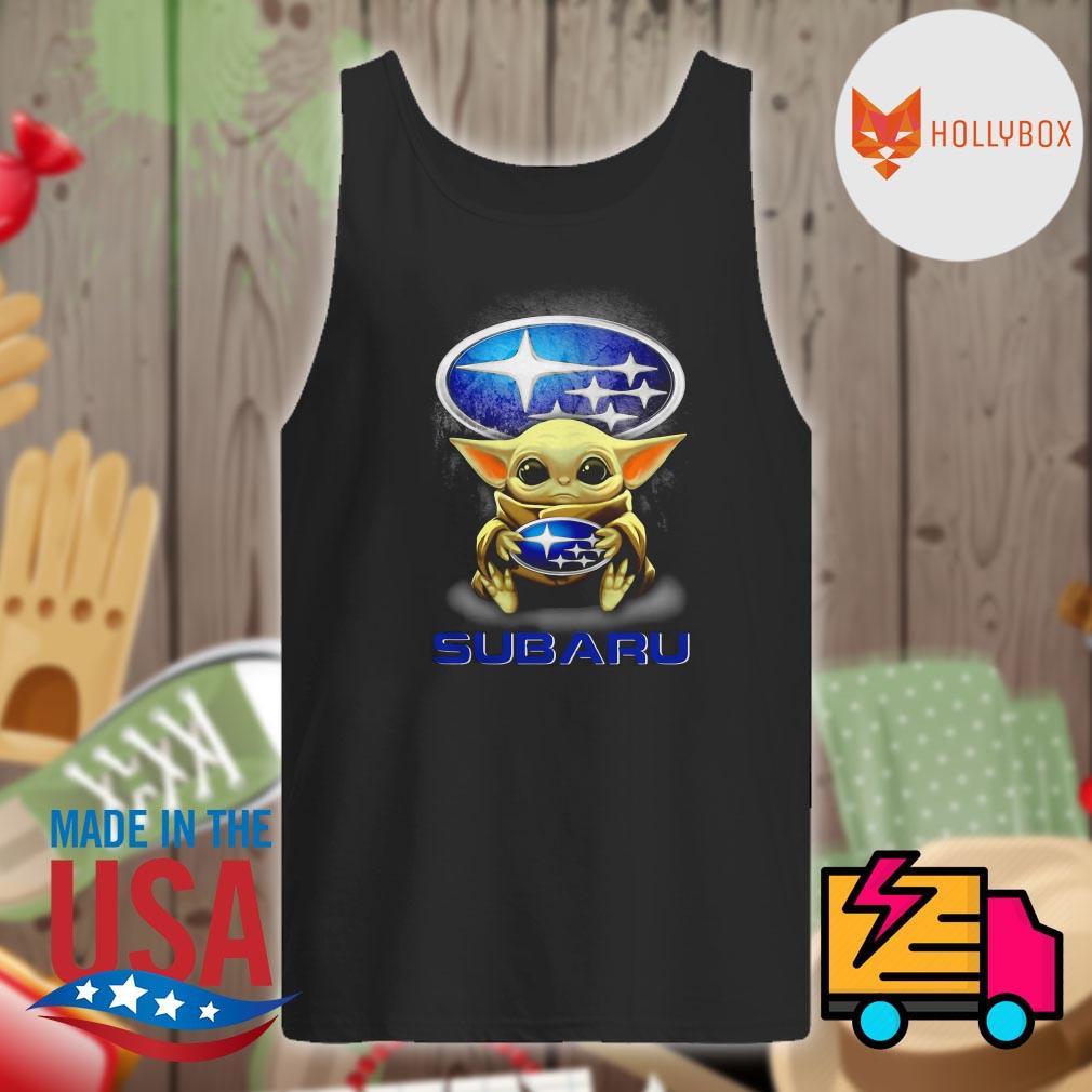 Baby Yoda hug Subaru s Tank-top